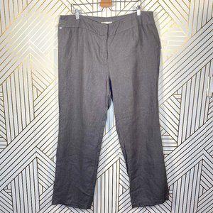 Eileen Fisher Woman Gray Linen Bootcut Pants